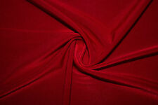 Red Venezia ITY 95% Polyester 5% Lycra Spandex Stretch Fabric BTY