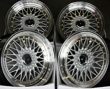 "ALLOY WHEELS X 4 15"" SILVER RS FITS FORD B MAX ESCORT FOCUS PUMA SIERRA KA 4X108"