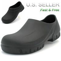 Men's Working Clogs Non-slip Shoes Slip Oil Resistant Kitchen Skid Slippers