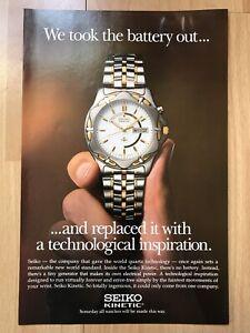Seiko 1996 Advertisement Pub Ad Werbung