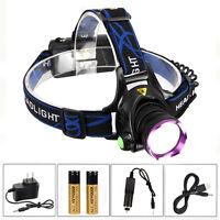 5000LM XM-L T6 LED Headlight Stirnlampe Kopflamp Stablampes Wiederaufladbar