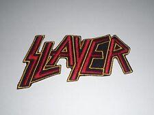 SLAYER THRASH METAL IRON ON EMBROIDERED PATCH