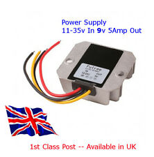 POWER SUPPLY DC-DC Converter 12V/24V Down to 9V 5A - 25W Available in UK