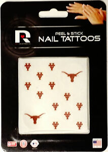 University of Texas Longhorns Peel & Stick Nail Tattoos