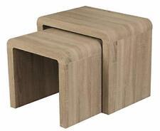 Malmo Dark Oak Veneer Nest of Tables Set of 2 Nesting Tables  Living Room Furnit