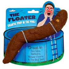 1 Huge 10 inch Floating Poop - Fake Turd for Pool Hot Tub - Gag Gift Joke Prank