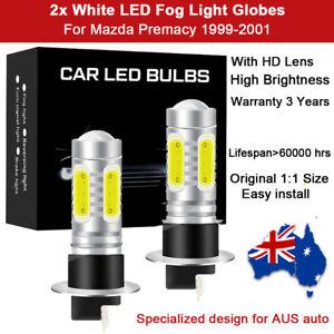 For Mazda Premacy 2001 2000 1999 2x Fog Light Globes 8000LM Spot White LED Bulbs