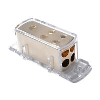 Car Stereo Audio Power Ground Distribution Block 4Way 4 Gauge In 8 Gauge Out