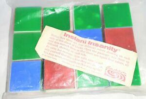 vintage 1967 INSTANT INSANITY color block puzzle game PARKER BROS - 12 blocks NR