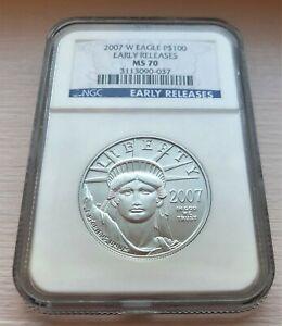 2007-W $100 Burnished 1oz Platinum Eagle NGC MS70! Low Mint, Best prices on Ebay