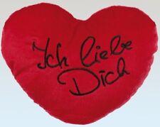 Plüschherz Ich liebe Dich rot L Herzkissen Herz Kissen love Valentinstag Plüsch