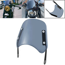 Smoke Universal Motorcycle 5-7'' Round Headlight Fairing Windshield Windscreen
