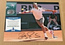 ROGER FEDERER SIGNED 8X10 TENNIS PHOTO BECKETT CERTIFIED #20