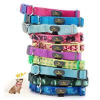 Pet Dog Collar Durable Waterproof Adjustable Collar Necklace Custom Tag Medium
