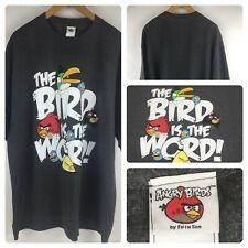 Angry Birds The Bird Is The Word! Dark Gray T Shirt Angry Birds Shirt Size 2XL