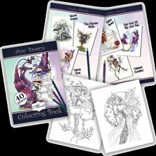 *AMY BROWN* Fantasy, Fairy, Dragon, Pixie Paperback Colouring Book (40 Designs)