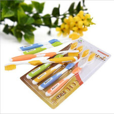 New 4pcs Bamboo Charcoal Toothbrush Dental Care Soft Nano Brush Oral Clean