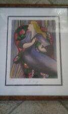 "Linda Le Kinff Limited Edition Serigraph Pencil Signed Titled ""Salon Mauve 27/50"