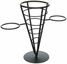 Winco Wbkh-5 Single Cone Black Wire French Fryer Holder
