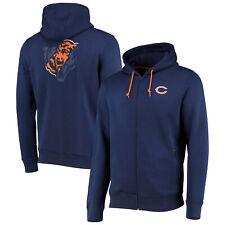 Chicago Bears Split Graphic Full Zip Hoodie - Navy - Mens