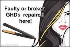 GHD HAIR STRAIGHTENERS REPAIR SERVICE - BROKEN / FAULTY - 1000'S FIXED!!