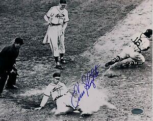 ENOS SLAUGHTER Signed St. Louis CARDINALS MLB Baseball 8x10 PHOTO Schwartz COA