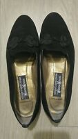 Stuart Weitzman for Neiman Marcus Black Loafers Suede Flats 9.5 M