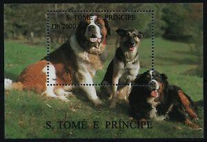 São Tomé & Príncipe 1995 - Mi-Nr. Block 327 ** - MNH - Hunde / Dogs