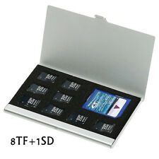 8 in 1 Aluminum Micro SD TF SDHC MS Memory Cards Storage Case Protector Holders