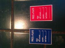 AMI JUKEBOX, H I J OR K. BLUE. OR. RED PRICE PER PLAY PLASTIC INSERT