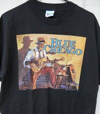 "CLASSIC  "" BLUE CHICAGO ""  MEN'S SHORT SLEEVED TEE SHIRT SZE X-LARGE COLOR BLACK"