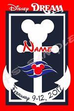 8X10 Disney Cruise Door Magnet - NAUTICAL MICKEY - OR - MINNIE