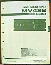 Yamaha MV422 Rack Mixer Original Service Handbuch, Schemata, Teile List Booklet
