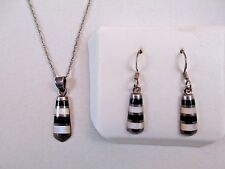 PREMIER DESIGNS Onyx Sterling Silver Pendant Earrings Set