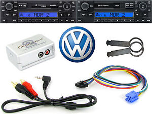 VW Gamma AUX input adapter radio removal keys PC5-133 iPod iPhone MP3 CTVVGX001