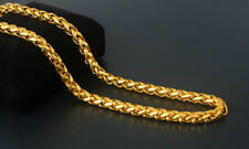 "23"" Vintage 14K Yellow Gold Filled Lantern Rope Chain Long Mens Necklace Jewelry"