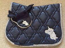 HKM Unicorn  Very Limited Edition Saddle Pad/fly Veil Cob Navy Blue