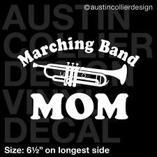 "6.5"" MARCHING BAND MOM w/ TRUMPET vinyl decal car window laptop sticker"