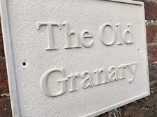 """12""""/8""""Relief Engraved Stone House Sign Deeply Engraved To Your Requirements"""