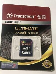 New Transcend SDXC UHS-1 Memory Card HD Ultimate128GB 600x 90mb/s TS128GSDXC10U1
