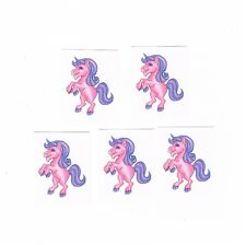 5 x Pink Unicorn Temporary Tattoos -  Great Kids Party Favours , Stocking filler