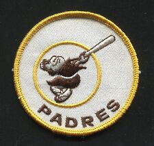 "Vintage 1969-1972 era SAN DIEGO PADRES Logo Embroidered 3"" Patch, NEW (16610)"