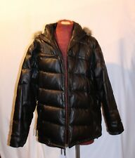 686 BLACK LEATHER PUFFER DOWN&FEATHER FILLED MENS JACKET SZ XL  $349