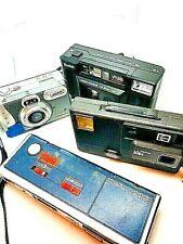 Lot of 4  35mm Film Point & Shoot Cameras 2x Kodak  Minolta  Clearview 1 disk ty