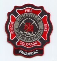 Louisville Fire Department Paramedic EMS Patch Colorado CO