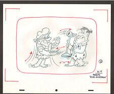 """Flintstones Animation Art - """"Rock Rockstone"""" Fred + Barney Scene 4"""