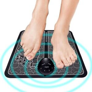 EMS Foot Massager Mat Electric Pad Blood Muscle Circulation Relief Pain LED USB