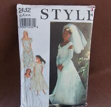Style Misses Bridal Bridesmaid Dress Sizes 8-18 Uncut Pattern 2432