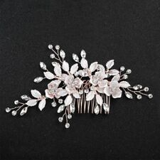 Wedding Clips Flower Leaf Ornaments Comb Hair Accessories Hairpins Jewelry