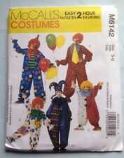 McCall's Pattern M6142 Children's Costumes Size 5-6  Clown Jester Hat Easy FREE